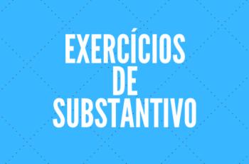 Exercício de substantivo com gabarito