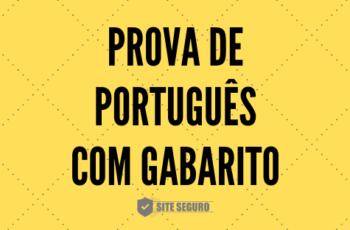 Prova de Português do CESUSC com gabarito